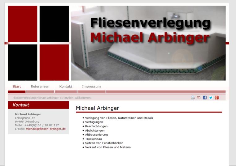 Fliesenverlegung Michael Arbinger